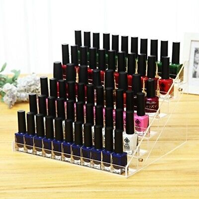 Clear Acrylic Nail Polish Display Stand 60 Bottles Makeup Organizer Holder Rack