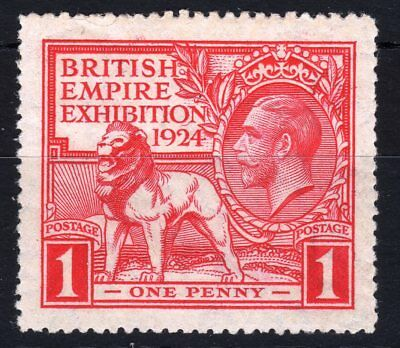 GB : KGV  SG430c 1d British Empire Exhibition: Tail to N of EXHIBITION :VLMM