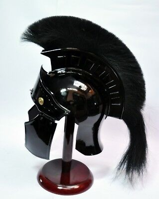 Handmade Antique Armor-Helmet New-Replica-Greek-Greco-Spartan-with-Horse Hair