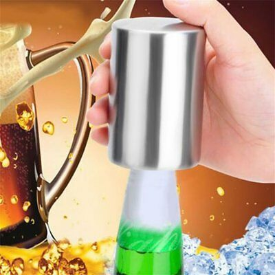 Automatic Stainless Steel Bar Wine Beer Soda Glass Cap Bottle Opener Open Tool A