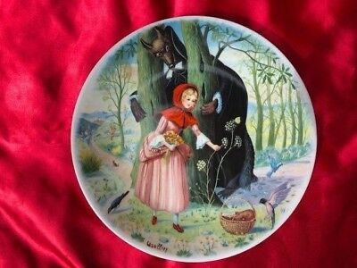 LIMOGES-TURGOT Little Red Riding Hood plate FREE SHIPPING!