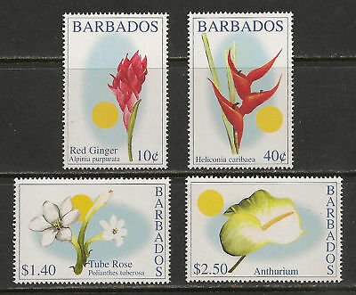 Barbados #1028-1031 VF MNH - 2002 Island Flowers
