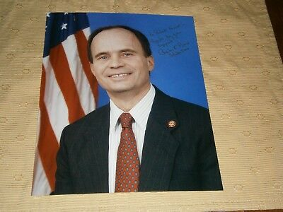 US Representative Charles Bass personal inscribed autographed 8x10 color photo