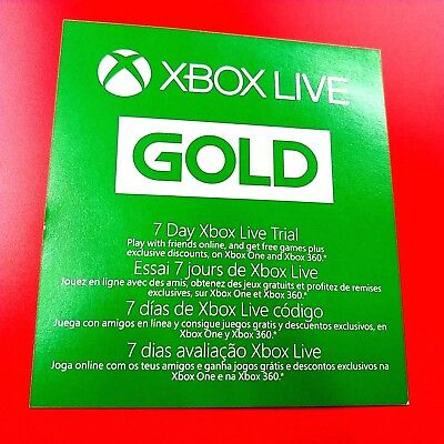 Xbox Live Gold 7 Day Trial168 Hour Dlc Add-On #2