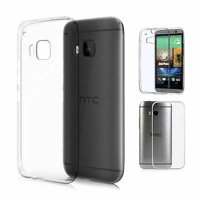 Slim Clear Soft Silicone Transparent Case Cover For HTC ONE M8 M8S M9 Shockproof