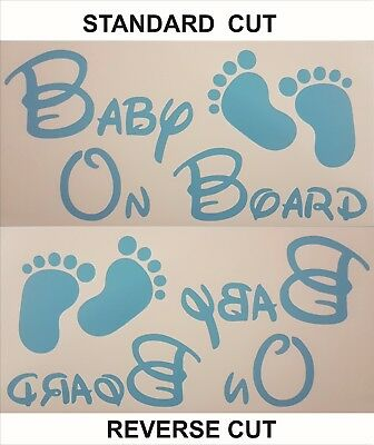 Baby on Board car graphics, vinyl sticker, decals, graphics in choice of colours