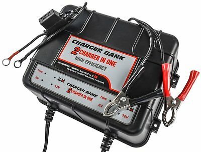 JEGS Performance 81955 Smart Trickle Charger & Battery Maintainer 2-Bank, 4 Amp