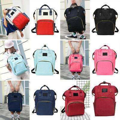 Fashion Mummy Baby Stroller Bag Nappy Changing Bag Baby Diaper Travel Backpack