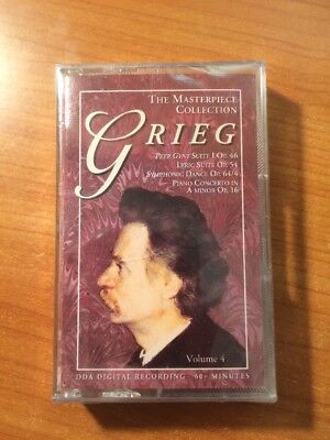 The Masterpiece Collection Edvard Grieg (CASSETTE) RARE, OOP, BRAND NEW