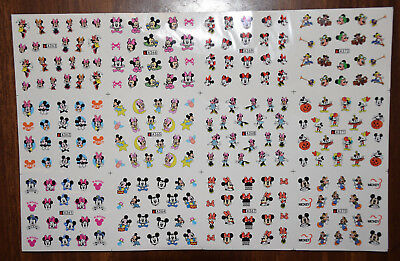Nail Art Water Transfer Sticker Disney Mickey Minnie Mouse Decals Manicure LOT B