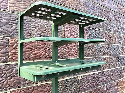 "Vintage Gingher Co. Industrial Green 76"" Tall  Metal Coat Rack - Very Good"