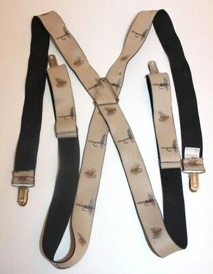 Vintage Anglers Expressions Fishing Lure Suspenders Clip On Fisherman Baits Fish