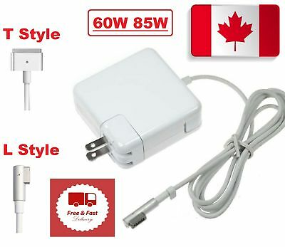 Euniversal 60W/85W AC Power Adapter Charger L-Tip/T-Tip For Macbook Air Pro