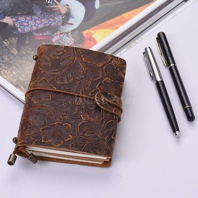 Vintage Journal Full Grain Leather Diary Note Book Sketchbook Lined Notepad H4O9