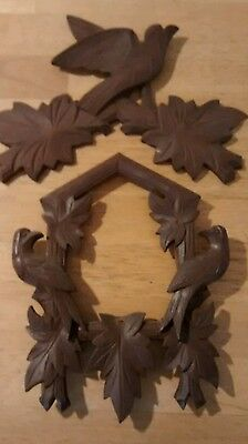 One Cuckoo Clock Topper/Front. Parts Only Or Repairs