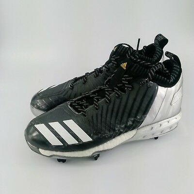 low priced 0aef2 368f0 adidas Boost Icon 3.0 Metal Baseball Cleats - Black   Silver - BY3684 - Size