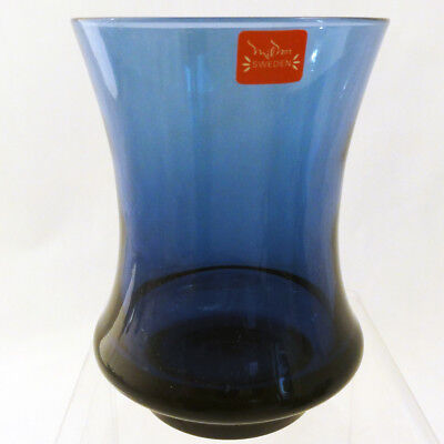 "DENBY Avanti Blue Ice Small Tumbler 4.25"" tall NEW NEVER USED made Milnor Sweden"