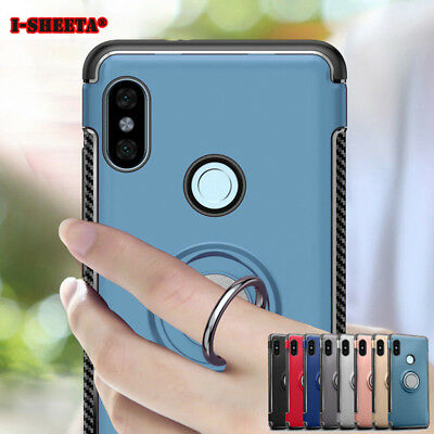 Hybrid 360 Degree Ring Holder Stand Case Cover For Xiaomi Redmi Note 5 Pro 6 Pro