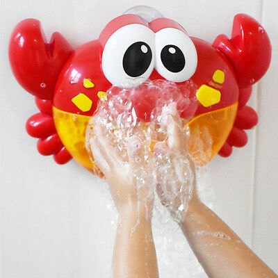 Crab Bubble Machine Musical Bubble Maker Bath Baby Toy Bath Shower Funny Gift