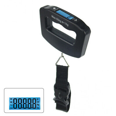 Portable Digital Backlit Lcd Electronic Scale 50Kg/10G Hanging Belt Luggage W...