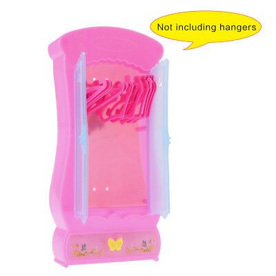 Pink Closet Wardrobe For Girl Doll House Girls Toy Princess Bedroom Furniture