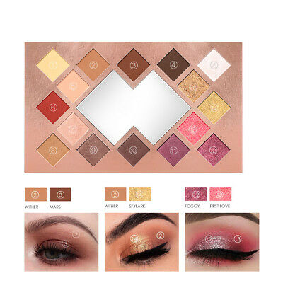 O.TWO.O 16 Colors Palette Shimmer Eyeshadow Matte Highlighter Glitter Make Up