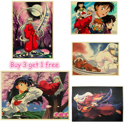 Japanese Anime InuYasha Inu Yasha sesshoumaru Decor Kraft Paper Posters Painting