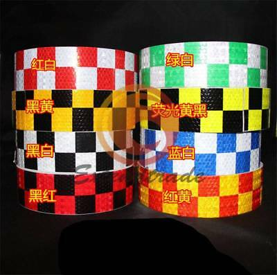 """Chequer Night Reflective Safety Warning Conspicuity Tape Strip Sticker 2/""""X118/"""""""
