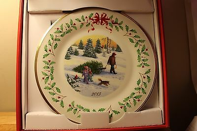 Lenox 2013  23rd  Annual Holiday Collector Plate~NIB & ready for Christmas