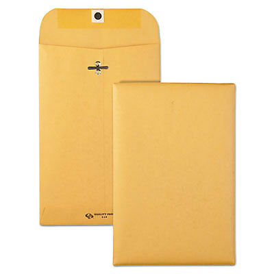 Clasp Envelope, #55, 6 x 9, 28lb, Brown Kraft, 100/Box 37855