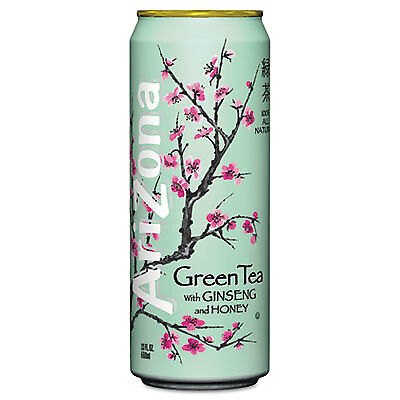Green Tea with Ginseng & Honey, 23 oz Can, 24/Case 827195