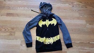 Big Boys Batman Dc Comics Fleece Hooded Sweatshirt Hoodie Size Small