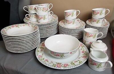 NIKKO Fine China - ARBOR ROSES Pattern -  64 Piece - COMPLETE SERVING FOR 12 !