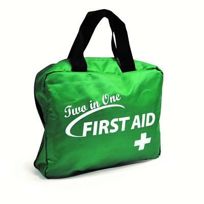 165 Piece Premium 2 in 1 First Aid Kit Bag for Home, Office, Car,Workplace,Etc..