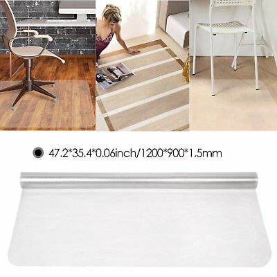 90x120 PVC Plastic Frosted Nonslip Floor Protector Office Chair Transparent Mat