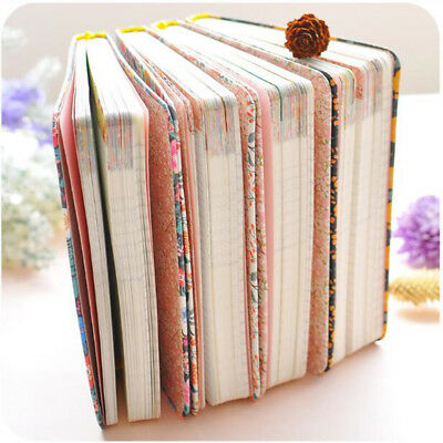 Simple Floral Flower Style Schedule Book Planner Day Month Diary Covers Supply