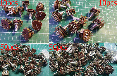 10pcs Rotary Switch 1 Pole 6 Position 3 pole 4 position Rotary Switch 6mm Shaft