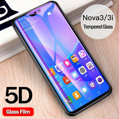 5D Curved Temper Glass Screen Film Protector for Huawei Nova 3i Y7 Prime Y8 2018