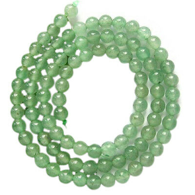 5X(2 Pieces Artificial green round beads necklace Artificial Crystal Gemsto B4X0