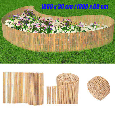 Natural Bamboo Garden Fence Outdoor Privacy Screen Screening Panel Roll 30 50cm