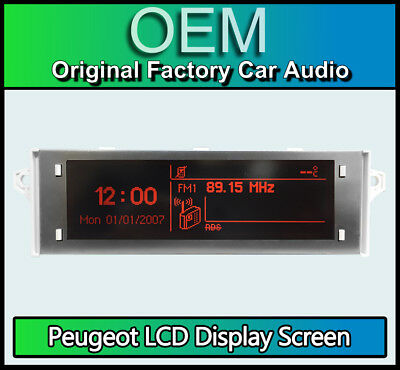 Peugeot 5008 display screen, RD4 car stereo radio LCD Multi function clock dash