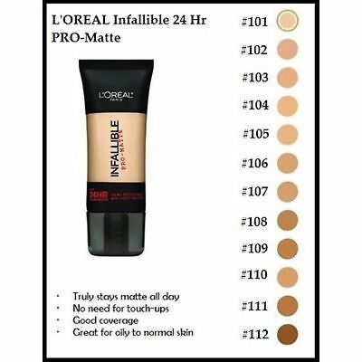 L'Oreal Infallible Pro-Matte Foundation. Air Light. Oil Free. CHOOSE