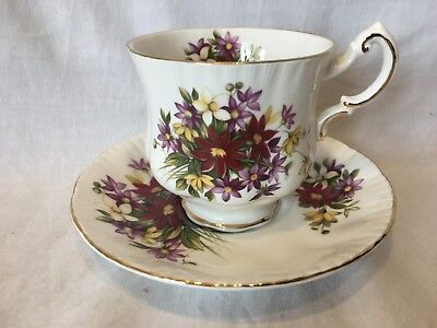 Paragon Flower Festival  Fine Bone China Tea Cup and Saucer
