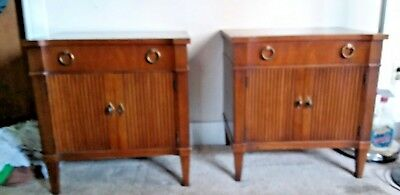 Drexel Vintage 1963 Via Veneto Nightstand/End Table Set of Two