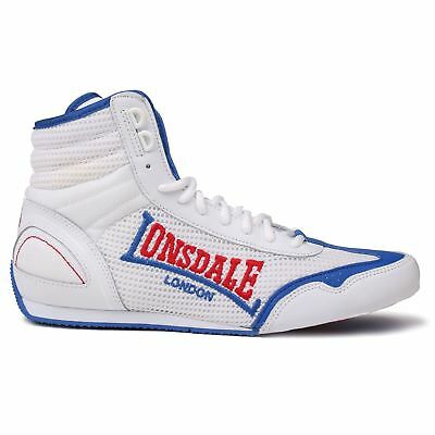 Lonsdale Mens Contender Boxing Boots Mid cut Full Lace Up Lightweight Shoes