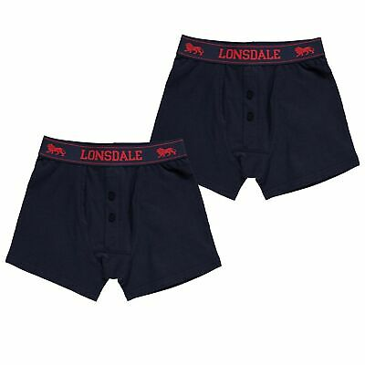 Lonsdale 2 Pack Briefs Youngster Boys Underclothes Elasticated Waist