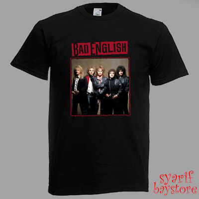 New Bad English Backlash Hard Rock Band Legend Men/'s Black T-Shirt Size S to 3XL