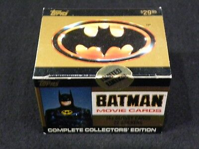 1989 Topps Batman Movie Cards Factory Sealed Set 143 Glossy Cards + 22 Stickers