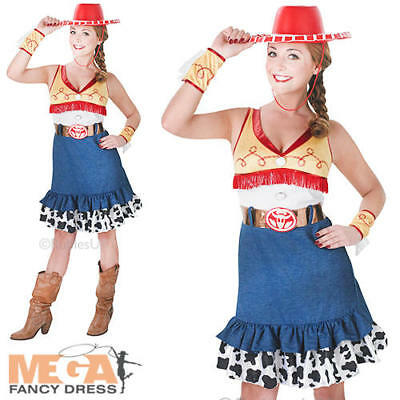 57b55d122 SMALL LADIES SASSY Jessie Toy Story Costume - Adult Official Rubies ...