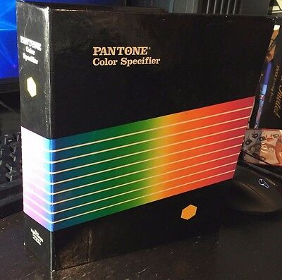 Pantone Color Binder 1987 Specifier Tint Selector 747XR Book Coated and Uncoated